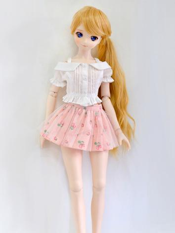 BJD Clothes Girl White Shirt and Pink Skirt for MSD/SD Ball-jointed Doll