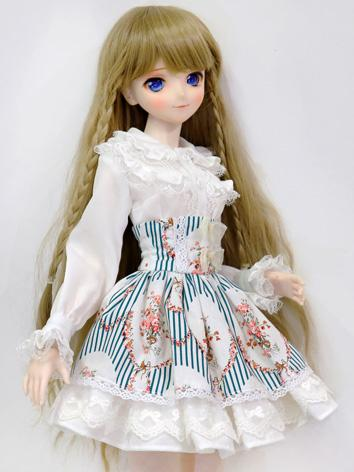 BJD Clothes Girl White Shirt and Blue Skirt for MSD/SD Ball-jointed Doll