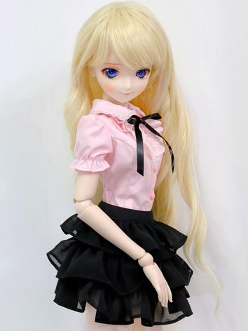 BJD Clothes Girl Pink Shirt and Black Skirt for MSD/SD Ball-jointed Doll