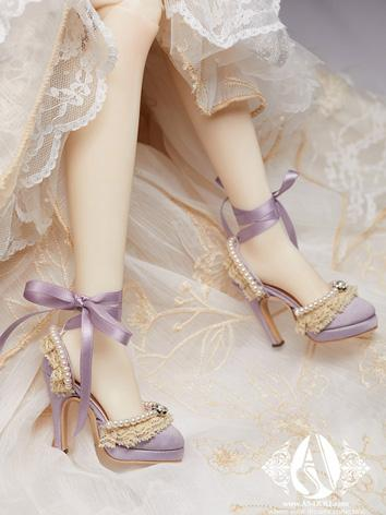Bjd Shoes 1/3 Purple Retro Princess Heel Sandal SH31048 for SD Size Ball-jointed Doll