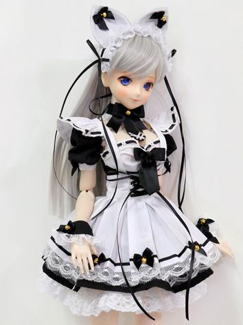 BJD Clothes Girl White&Black Dress for DD/SD Ball-jointed Doll