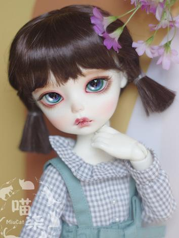 BJD Wig Girl Dark Brown Wig...