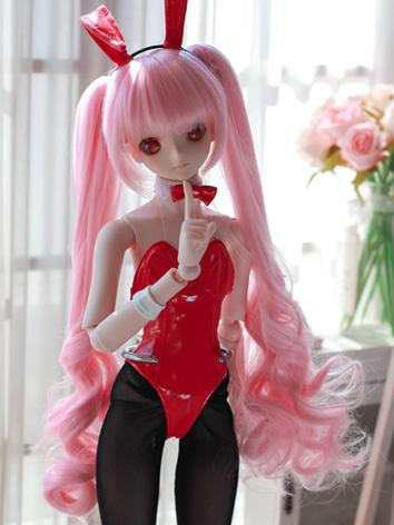 BJD Wig Girl Pink Long Hair for SD Size Ball-jointed Doll