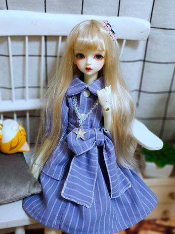BJD Clothes Girl Purple Dre...