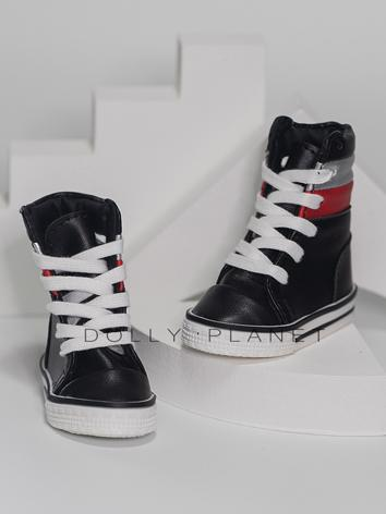 Bjd Shoes 1/3 1/4 White/Black Boy Sports Shoes for SD/MSD Size Ball-jointed Doll