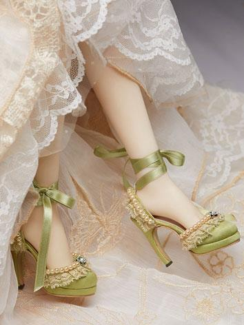 Bjd Shoes 1/3 Green Retro P...