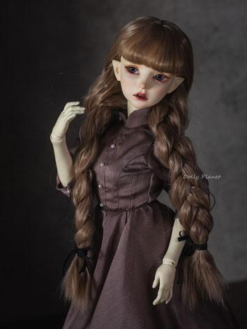 BJD Wig Girl Double Braids ...