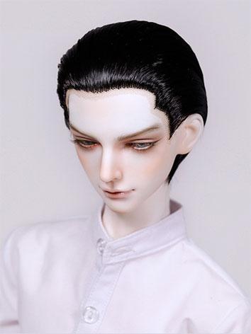 BJD Wig Boy Short Hair Slicked-back Hair Wig for 70cm/SD/MSD Size Ball-jointed Doll