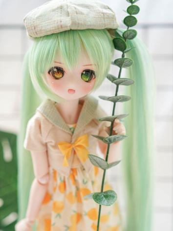 BJD Wig Girl Green Long Hair for SD Size Ball-jointed Doll