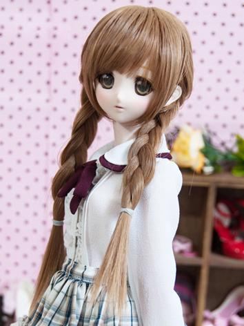 BJD Girl Twin Ponytails Hai...