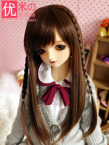 BJD Girl Long Hair Wig for SD Size Ball-jointed Doll