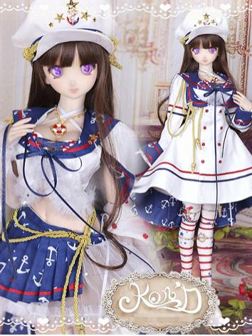 1/3 BJD Clothes Girl Navy U...