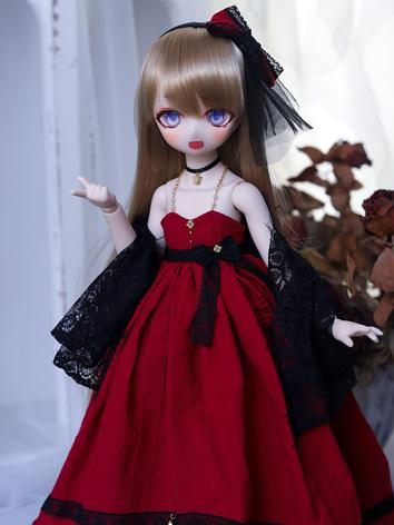 BJD Clothes Girl Red/Blue/G...