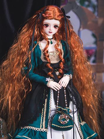 BJD Wig Hair MSD Size Wig Rwigs45-39 Ball-jointed Doll