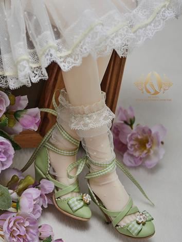 Bjd Shoes 1/3 Youth Green H...