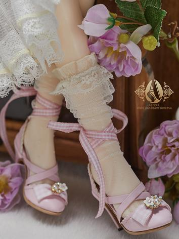 Bjd Shoes 1/3 Youth Pink Heel Shoes Highheels SH320071F for SD Size Ball-jointed Doll