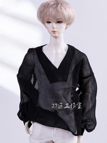 BJD Clothes Black Chiffon S...