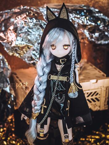 BJD Clothes Girl Black Set for MSD/MDD Ball-jointed Doll