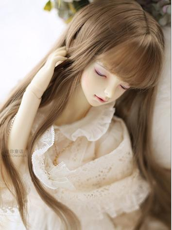 BJD Wig Girl Black/Brown Ha...