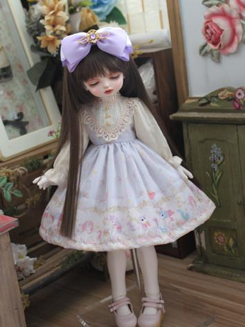 BJD Clothes Girl Western Style Dress for MSD/YOSD Size Ball-jointed Doll