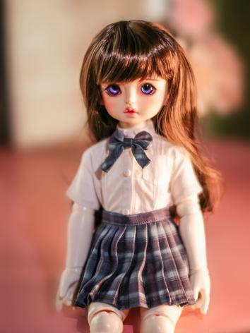 BJD Clothes Girl Shirt and Skirt Uniform for YOSD/MSD/YOSD Size Ball-jointed Doll