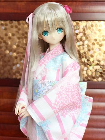 BJD Clothes Girl Yukata Kim...