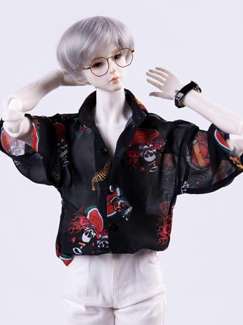 BJD Clothes Black/Blue Chif...