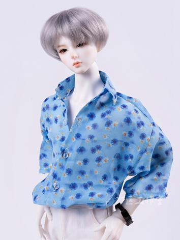 BJD Clothes Blue Chiffon Sh...