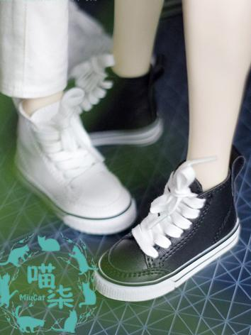 BJD Shoes Girl/Boy White/Bl...