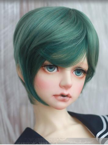 BJD Wig Girl Blue Wig Hair ...