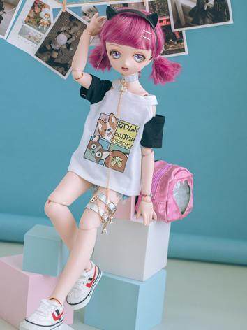 BJD Clothes Boy/Girl T-shirt and Shorts Suit for MSD/SD Size Ball-jointed Doll
