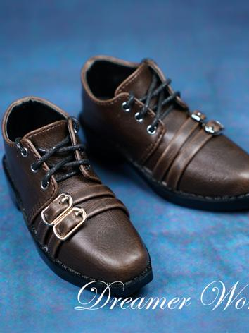 BJD Shoes Boy Retro Brown Shoes for SD/70CM Ball-jointed Doll
