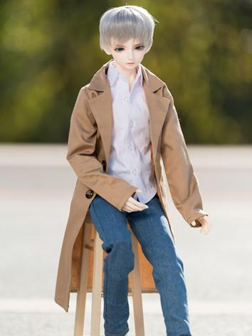 BJD Clothes Khaki/Dark blue...