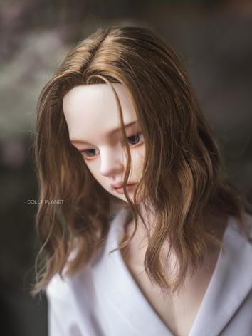BJD Wig Boy Brown Long Curl...