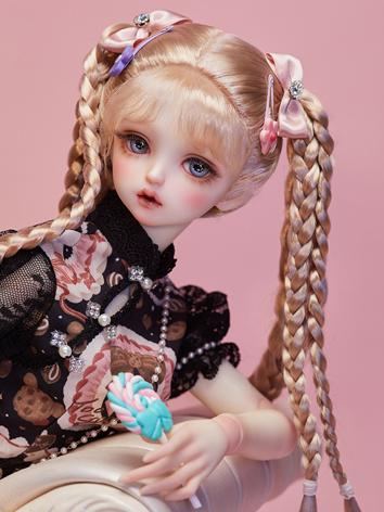 BJD 1/3 wig Bunches Braids ...