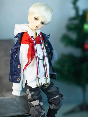 BJD Clothes Girl Coat Hoodi...