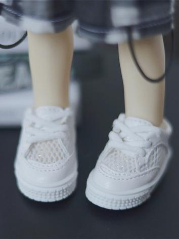 BJD Shoes Girl/Boy White Sp...