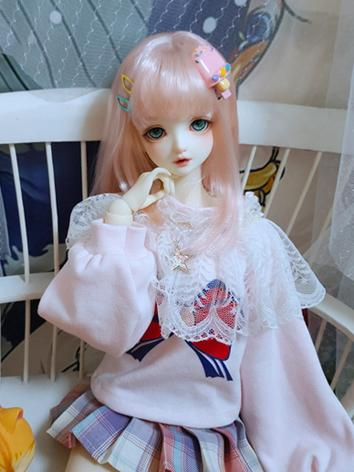 BJD Clothes Girl Pink T-shi...