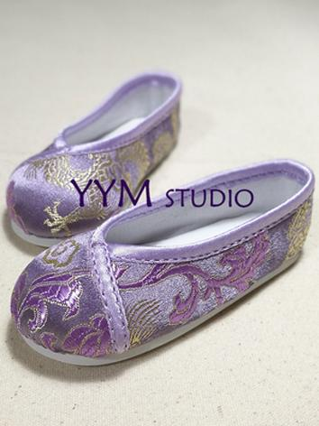 Bjd Shoes Boy White/Purple/...