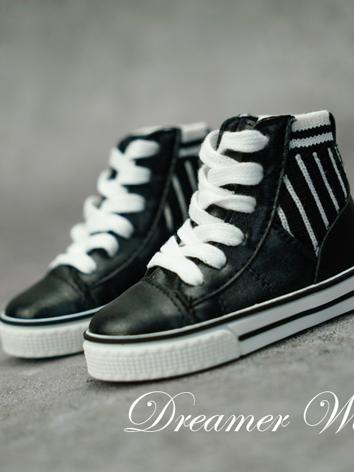 BJD Shoes Boy Black/White S...