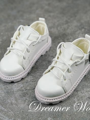 BJD Shoes Boy White/Brown/B...