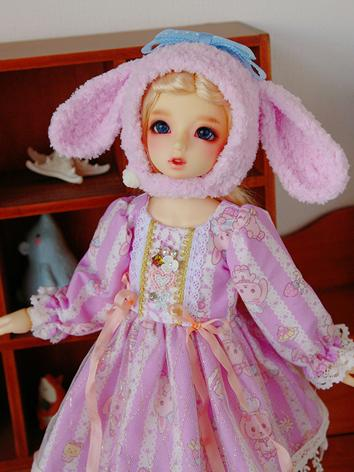 BJD Clothes Girl Pink Dress...