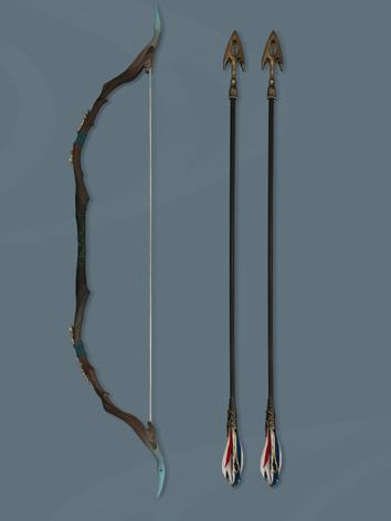 BJD Weapon Arrow and Bow Set for SD size Ball Jointed Doll