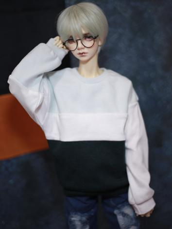 BJD Clothes Hoodie Blue&Whi...