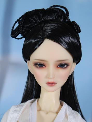 1/3 BJD Wig Ancient Updo Girl Black Hair for SD Size Ball-jointed Doll