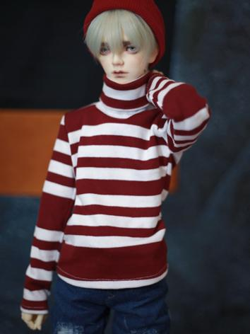 BJD Clothes Red/White High-...