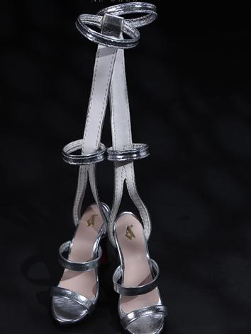 Bjd Shoes 1/3 Silver shoes - SH320093Y for SD Size Ball-jointed Doll
