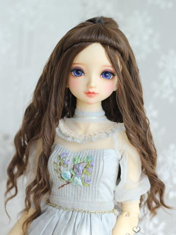 BJD 1/6 1/4 1/3 Wig Girl Brown Long Curly Hair for YOSD/MSD/SD Size Ball-jointed Doll