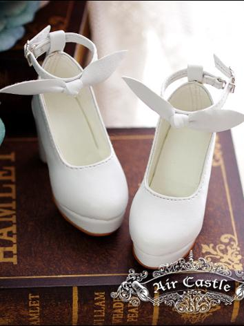 Bjd 1/3 Girl Shoes White/Bl...