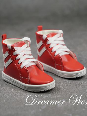 BJD Shoes Boy White/Red/Bla...